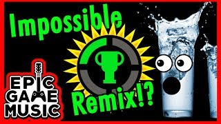 Game Theory Theme Played With Water Glasses!? || Epic Game Music