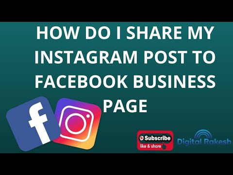 How do I share my Instagram post to Facebook business page 2020