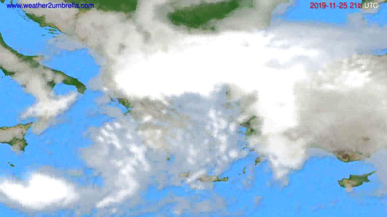 Cloud forecast Greece // modelrun: 00h UTC 2019-11-24