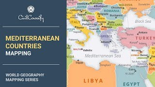 MEDITERRANEAN COUNTRIES || World Geography Mapping