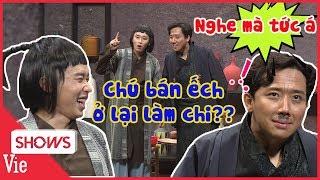 """Trấn Thành bắt trend hỏi Kay Trần """" Chú bán ếch ở lại làm chi?"""" và cái kết rối não"""