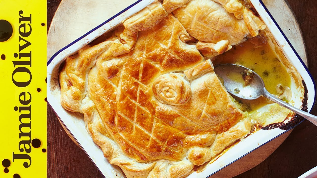 St georges day recipes jamie oliver jamies quick chicken mushroom pie forumfinder Image collections