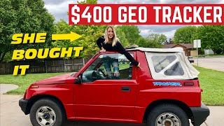 Amberghini BOUGHT A Cheap Geo Tracker And Its Been DESTROYED