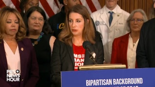 WATCH LIVE: Pelosi and former Rep. Gabby Giffords discuss bill to expand gun background checks