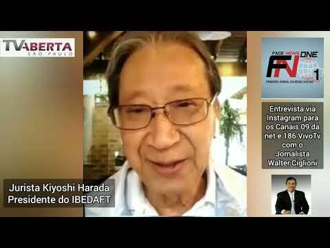 Entrevista com o jurista Kiyoshi Harada, presidente do IBEDAFT para o jornalista Walter Ciglioni