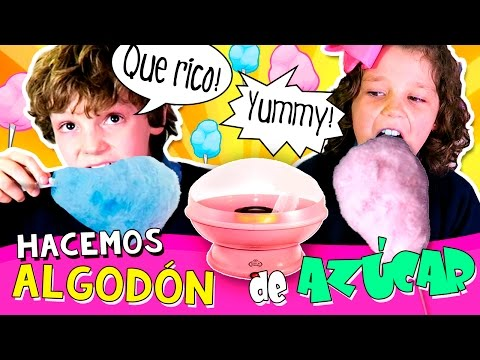 😛 Máquina de ALGODÓN de AZÚCAR☁️🍬 ¡Hacemos algodón de azúcar CASERO! 😍 Cotton Candy Maker español
