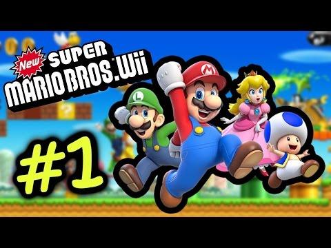 企定定都死咩喊出黎 #1 World 1 新超級瑪利歐兄弟 Super Mario Bro Wii Gameplay Walkthrough