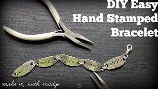 DIY Easy Hand Stamped Bracelet