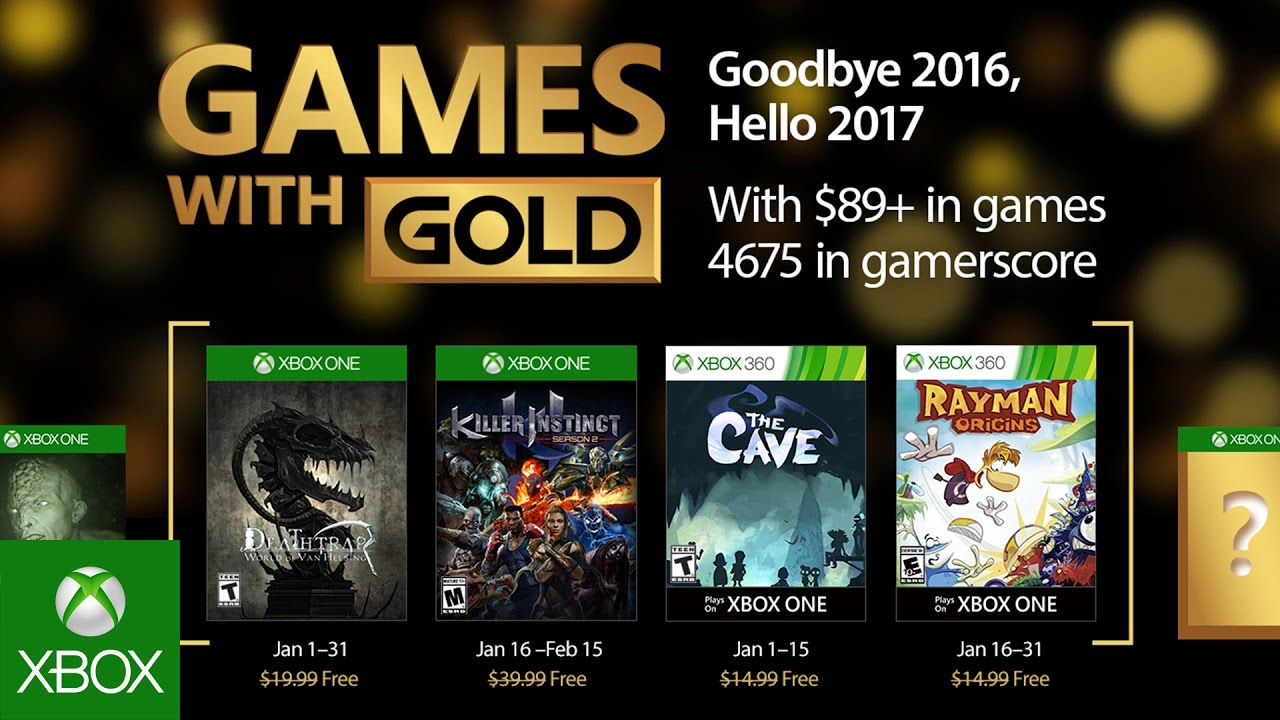 Xbox - Gennaio 2017 Games with Gold