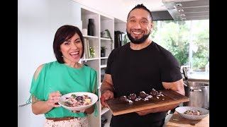 Youtube thumbnail for Island-style Māori Boil Up and Dairy-free Choc Bounty Balls by Joseph Finau