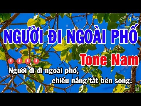 Karaoke Người Đi Ngoài Phố Tone Nam Nhạc Sống | Trọng Hiếu