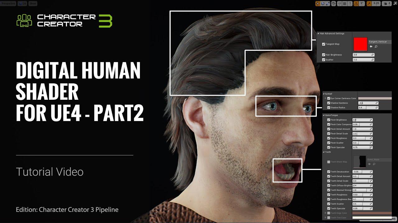 Character Creator 3 Tutorial - Digital Human Shader for Unreal Engine 4: Part 2