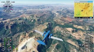 Flying over Zion National Park, Utah in Microsoft Flight Simulator 2020
