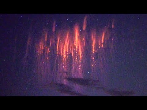 Storm chasers catch real time footage of Red Sprites, a type of lighting that goes up 30-50 miles above storms, along with a new phenomenon.