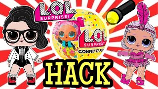 TESTING ULTIMATE HACK: LOL SURPRISE SERIES 3 CONFETTI POP | HUNT FOR BLACK TIE | L.O.L SURPRISE!