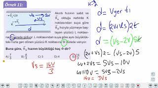 Eğitim Vadisi 11.Sınıf Fizik 3.Föy Bağıl Hareket 2 (Nehirdeki Hareket 1) Konu Anlatım Videoları