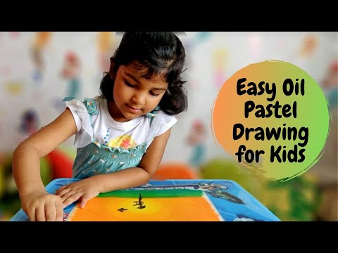 Easy Oil Pastel Drawing for Kids | Independence Day Drawing | Oil Pastel Art for Kids | #7