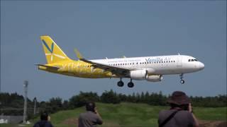 急な午後のランチェン到着ラッシュ始まるRwy16L成田空港東雲の丘眺望nrthhh
