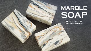 How To Make Marble Cold Process Soap (Technique Video #27) Soap Challenge, July 2020