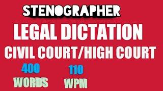 legal Dictation 110 wpm - Kênh video giải trí dành cho thiếu nhi