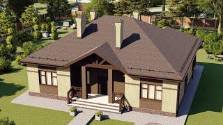 Проект дома 135-E, Площадь дома: 135 м2, Размер дома:  15,3x12,2 м