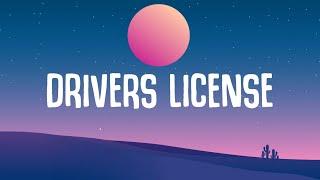 """Olivia Rodrigo - Drivers License (Lyrics) """"red lights stop signs I still see your face"""""""