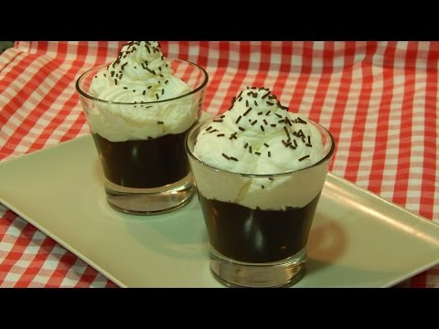 Copa de chocolate y nata receta fácil paso a paso
