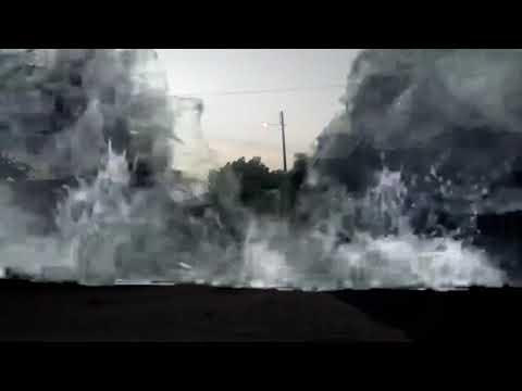 Água  em vadi rua em Água doce Maranhão