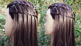 Feather Waterfall Hairstyles / Ladder  Braid Hairstyles For Girls / Braids Hairstyles