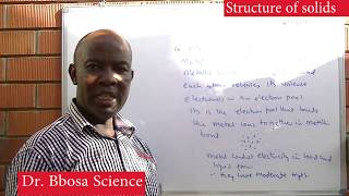 Structure of solids by Dr Bbosa Science