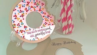 Simply Simple Doughnut with Sprinkles Card by Connie Stewart