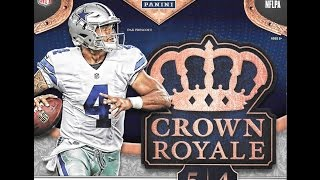 2016 Panini Crown Royale Football Retail Box Break 2 Hits