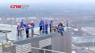 谁敢住:57层高楼仅12天建成/57floor-housearosewithin12daysinChina