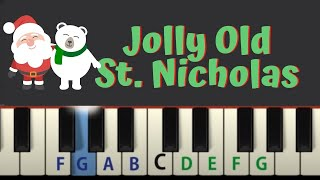 Jolly Old St. Nicholas: easy piano tutorial