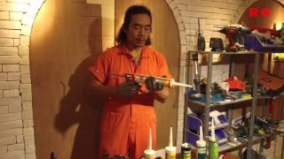 Master Alley - Caulking gun comparison test - Makita vs Hilti vs regular (Cantonese)