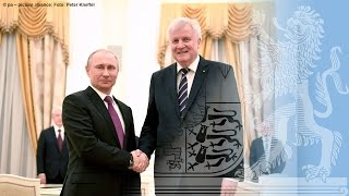 Ministerpräsident Seehofer trifft Staatspräsident Putin