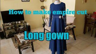 PRADA LACE LONG GOWN (empire Cut)