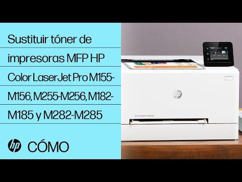 Cómo sustituir el tóner de las impresoras HP Color LaserJet Pro series M155-M156, M255-M256, M182-M185 y M282-M285