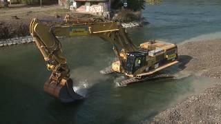 Flussbaggerung Aare