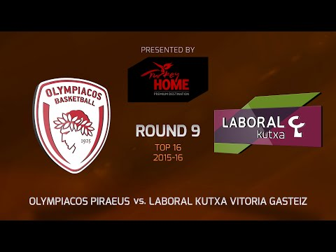 Highlights: Top 16, Round 9, Olympiacos Piraeus 82-68 Laboral Kutxa Vitoria Gasteiz