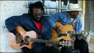 Taj Mahal & Corey Harris 'Sittin' On Top Of The World.avi