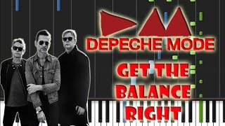 Depeche Mode - Get The Balance Right Piano Cover [Synthesia Piano Tutorial]