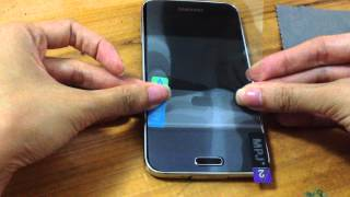 How to Apply Your Samsung Galaxy S5 A Screen Protector Film