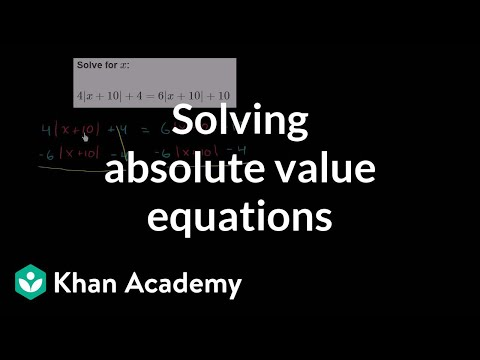 Worked Example Absolute Value Equations With No Solution Video