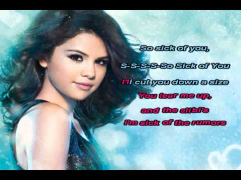 Selena Gomez & The Scene - Sick Of You [Karaoke/Instrumental] With Lyrics