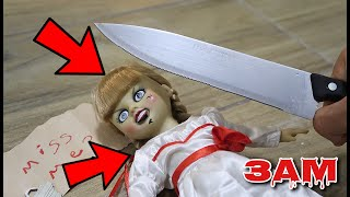 DO NOT CUT OPEN HAUNTED ANNABELLE DOLL AT 3AM!! *WHAT'S INSIDE HAUNTED DOLL*