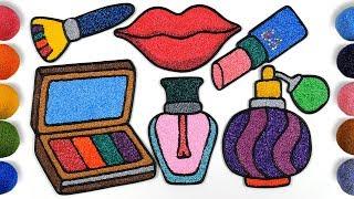 Lips, Makeup Tools Clay Coloring | Menggambar Dan Mewarnai Lipstik Untuk Anak-anak
