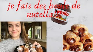 JE FAIS DES BOULES DE NUTELLA MAISON (c'est un régale)