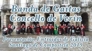 preview picture of video 'Carnaval 2015 - BANDA DE GAITAS DE VERÍN - Santiago de Compostela.'