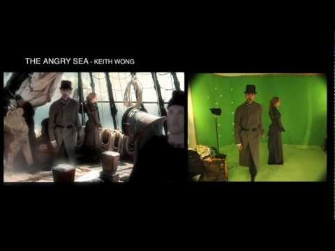 THE ANGRY SEA-Low budget Independent horror- greenscreen split screen